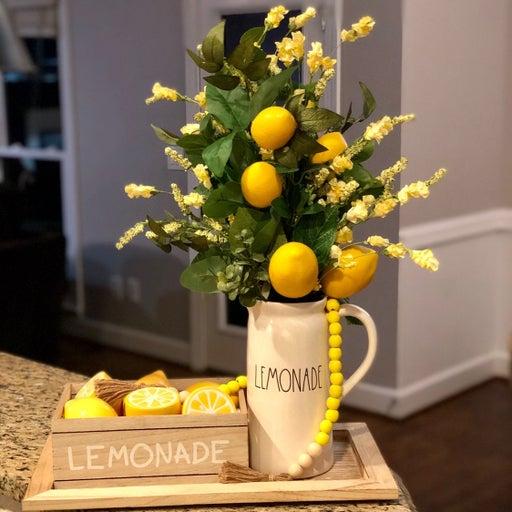 Full rae dunn lemonade pitcher display
