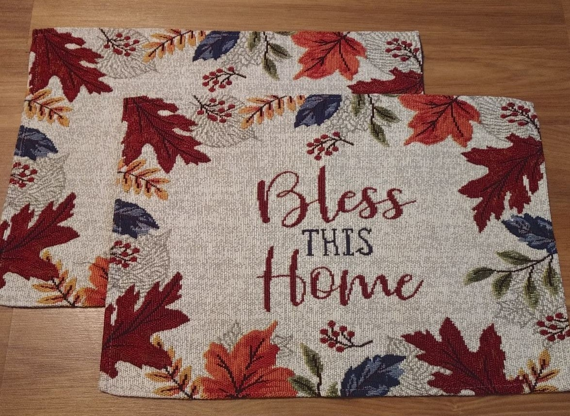 Farmhouse Fall Tapestry Placemats/2