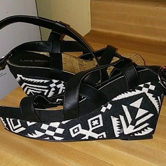 Lane Bryant Aztec Print Wedge Sandals