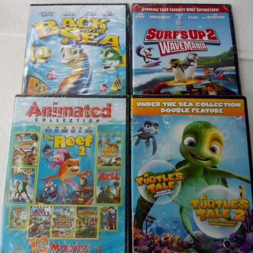 dvd Lot 4 Surf's Up 2, Back to the Sea +