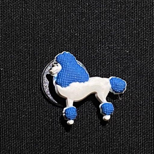 Blue poodle crocs charms