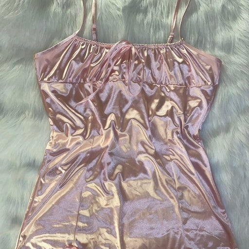 Sugar Thrillz Pink Satin Bow Dress Bundle