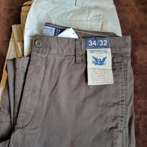 2 new men's dress pants 34x32