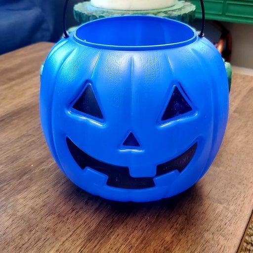 Halloween blue pumpkin pail