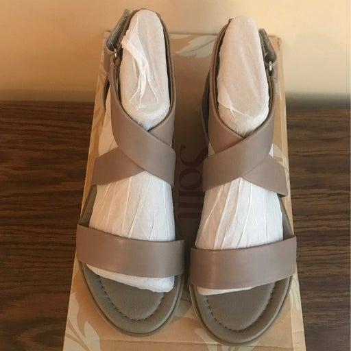 Sofft Reston Sandals Mist Gray Womens 7.5 M Euro 38.5