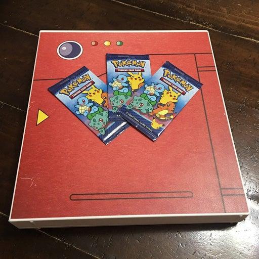 Pokedex Card Binder & 3 Packs of Cards