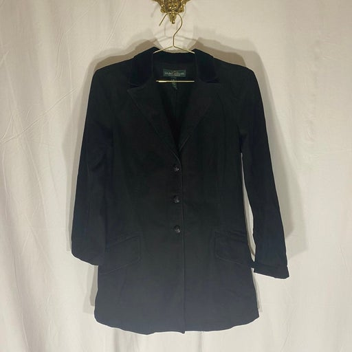 Womens Ralph Lauren Coat Velour Collar M