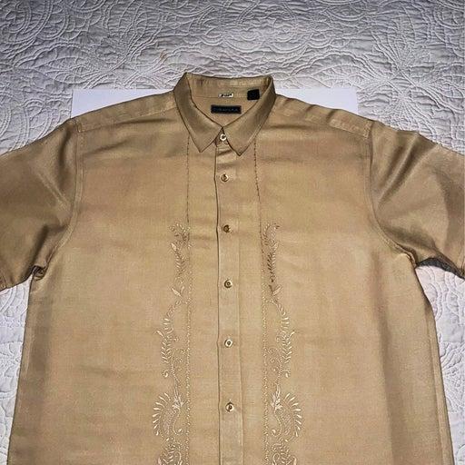 Cubavera short sleeve button front shirt