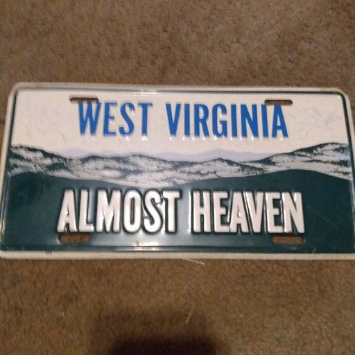 Novelty West Virginia License plate
