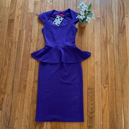 NWT!! Plum Peplum dress