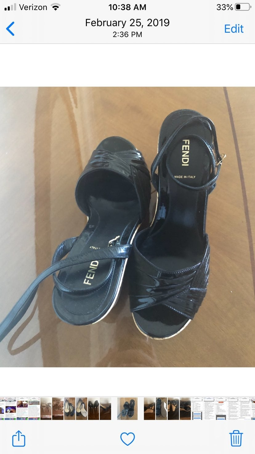 BRAND NEW Fendi Black Platform Heels