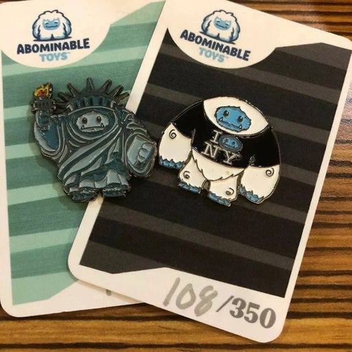 NYCC 2019 Abominable Plastic Empire Pins