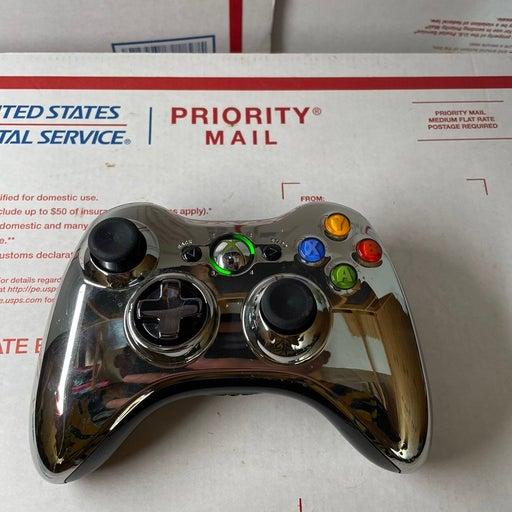 Xbox 360 Special Edition Chrome Metallic Silver Wireless Controller Official