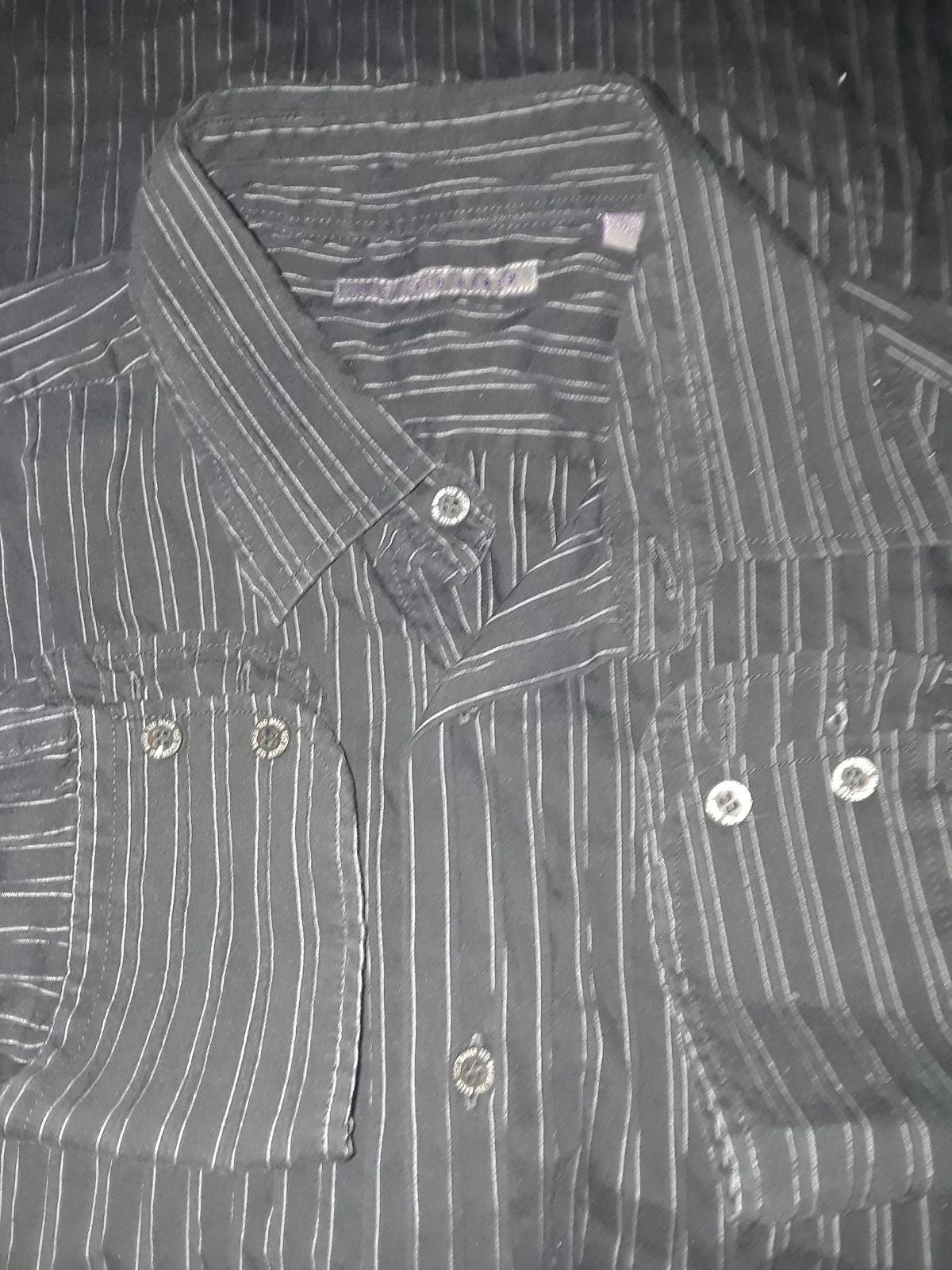 Ted Baker Black stripe shirt Med