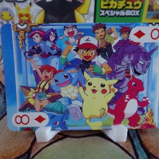 Pokemon Cartoon Group Shot Playing Card - 1999 Japanese Pokemon Poker Card