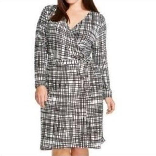 Ava & Viv Printed Faux Wrap Dress Plus Size 4X