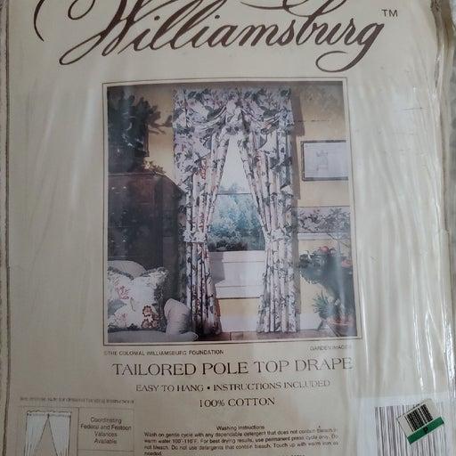Williamsburg Tailores Pole Drape NWT