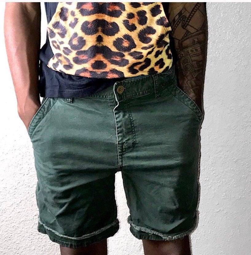 Vintage olive cargo shorts