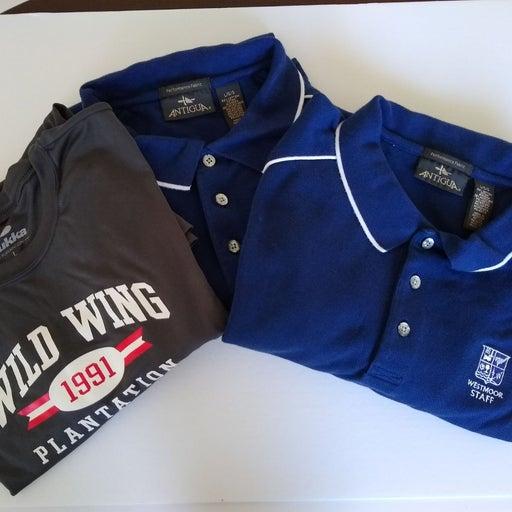 Antigua Pukka Men's golf Lot Of 3 Shirts