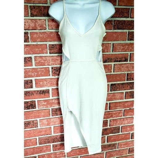 BooHoo White Cut Out Bodycon Dress