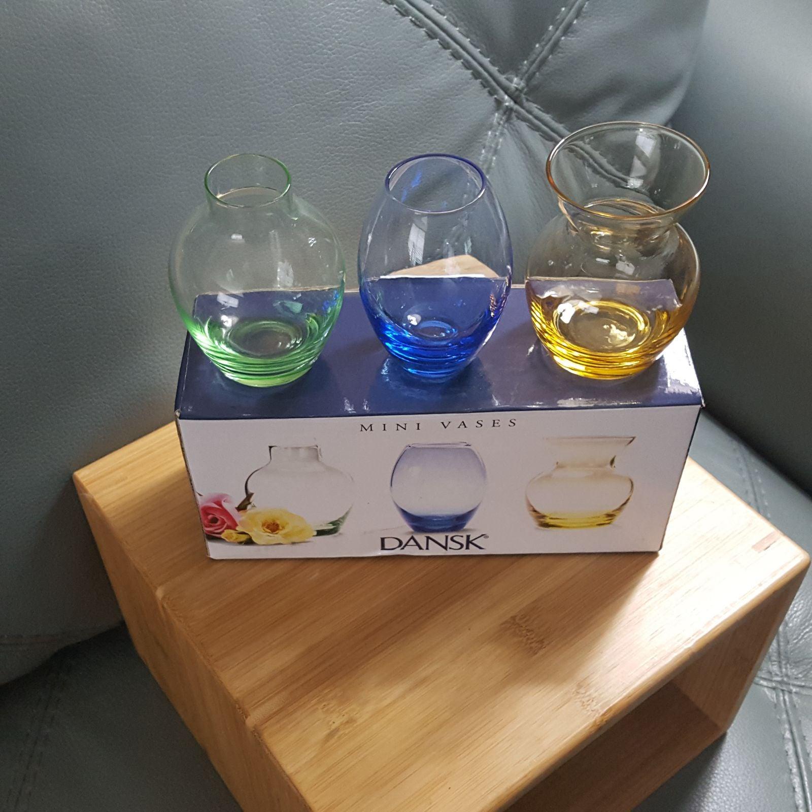 Dansk Mini Glass Vases