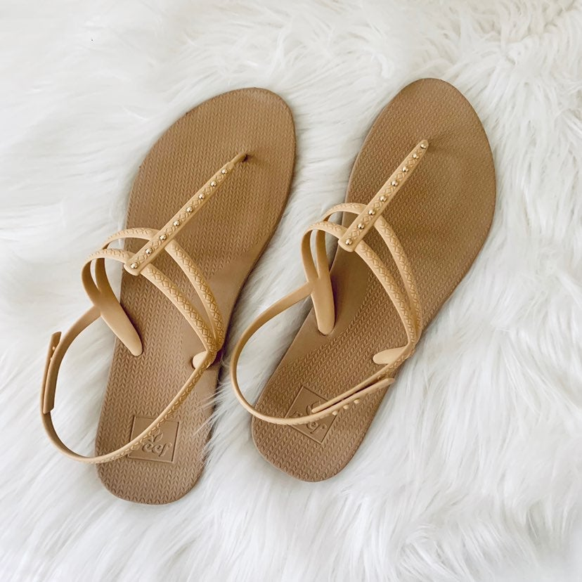 Reef Beige Stargazer Wrap Around Sandals