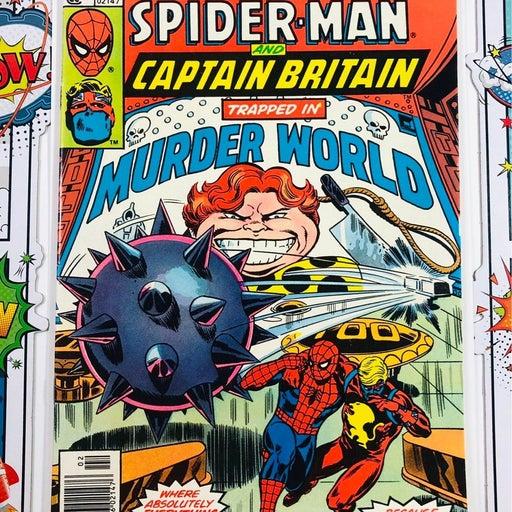 Spider-man & Captain Britain Marvel Team-Up #66 Marvel Comics