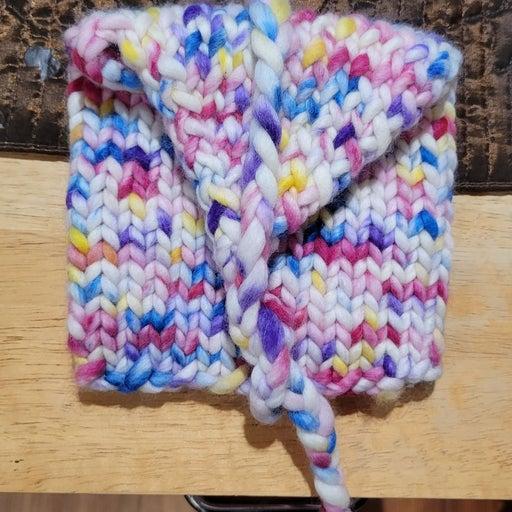 Handmade Handpsun Yarn Envelope Handknit