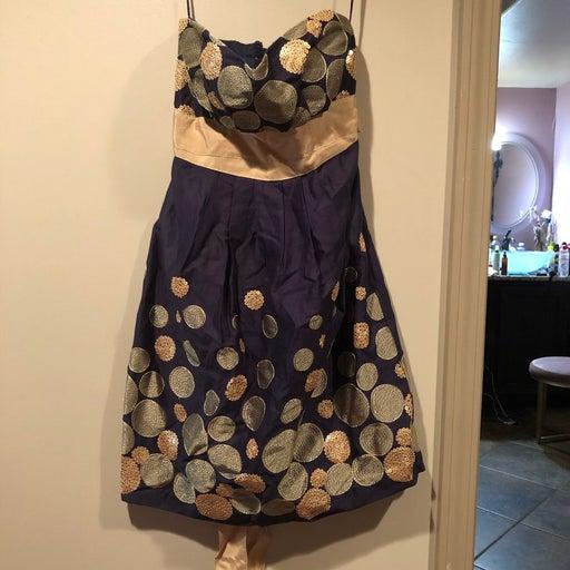 Chelsea & Violet Dress size 4 (navy+gold)