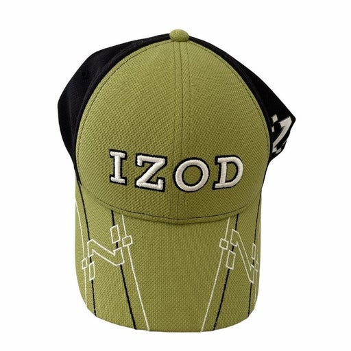 Izod XEG Hat Green Black Baseball Cap Dense Mesh