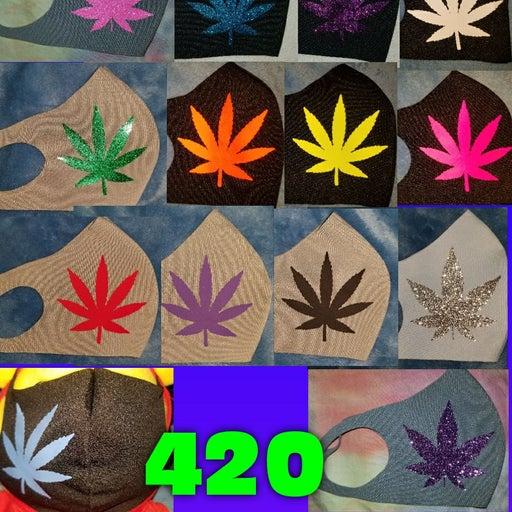 420 Leaf Face Covering