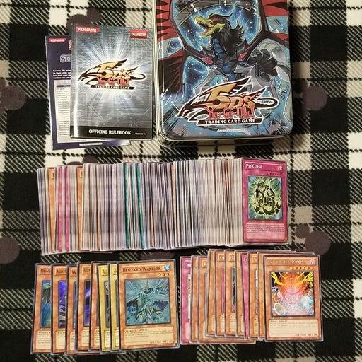 Yugioh 250 Cards Lot and Tin Box