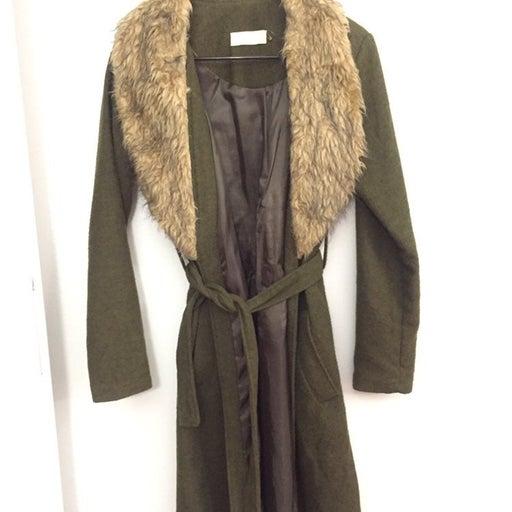 Turkish fur Coat winter coat army green