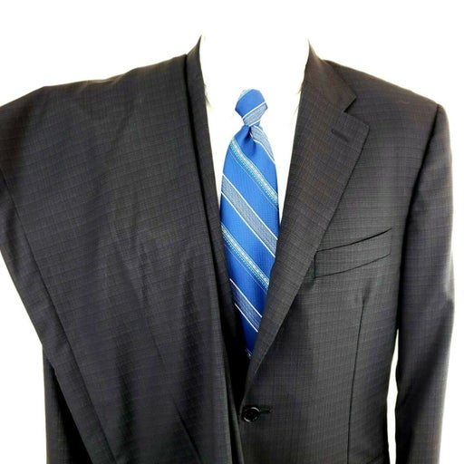 Canali 40R 2 Button 2 Piece Wool Suit