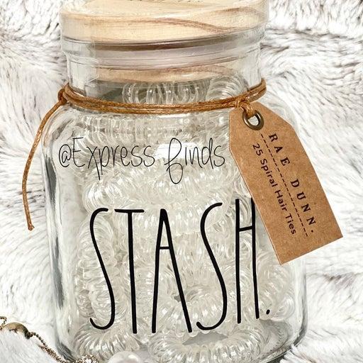 Rae Dunn Stash Glass Cellar HTF