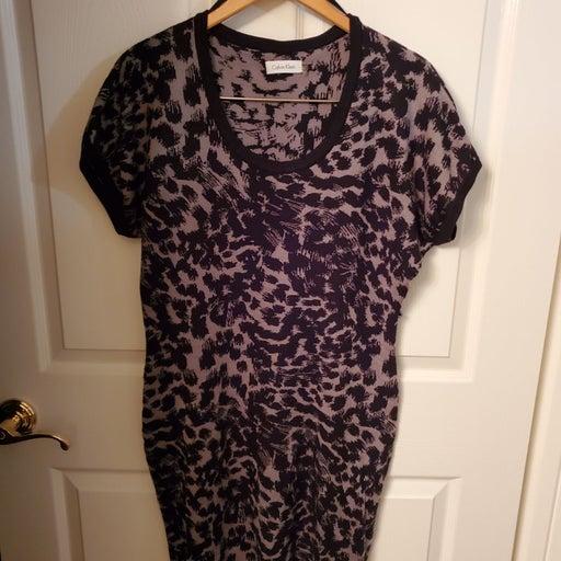 Calvin Klein Short Sleeve Sweater Dress