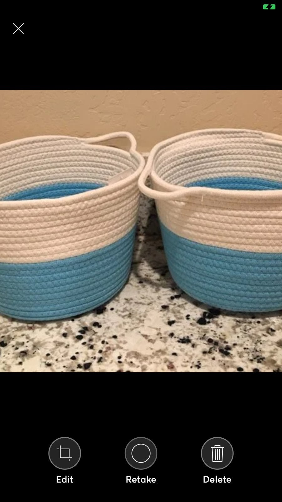Farmhouse Woven Baskets - Set of TWO