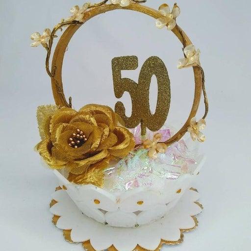 50th Anniversary Cake Topper