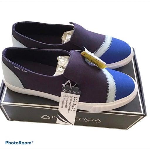 Nautica Blue Slip On Flats Size 8.5