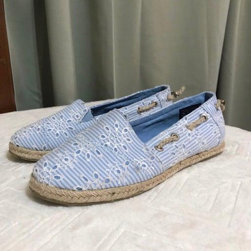 Nautica Rudder Blue Eyelet Slip On Shoes