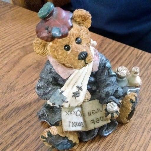 Boyds Bears & Friends Vintage Figurine, Get Well Soon Bear