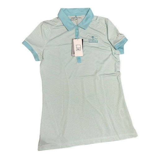 Nike Golf  Dri-Fit Turquoise & White Striped 2016 PGA CHAMPIONSHIPS POLO Sz S