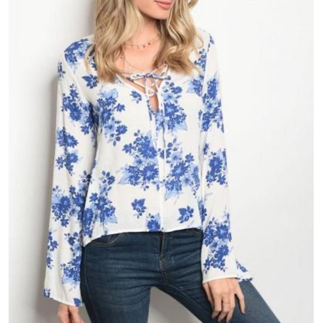 The Impeccable Pig Lace Up Peasant Top S