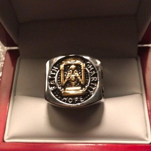 NWT Masonic Master SSteel men's ring 10