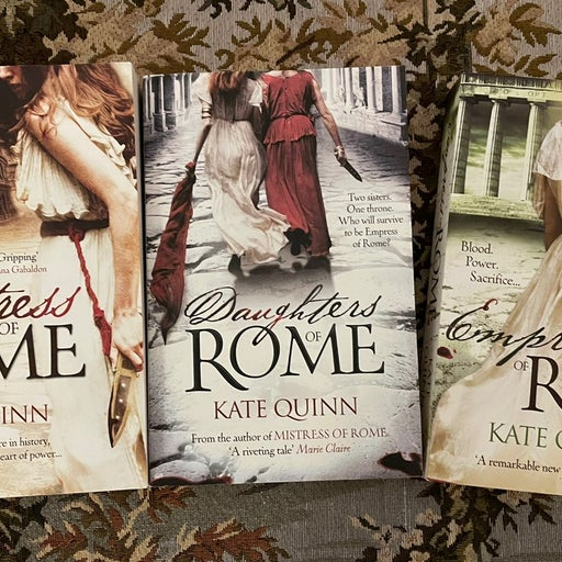 Mistress of Rome Series UK covers
