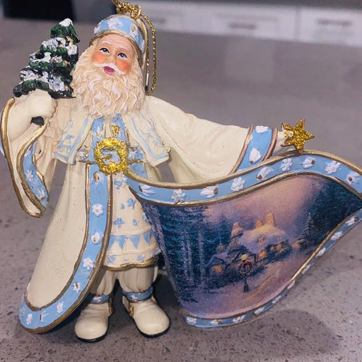 Thomas kinkade Santa Claus Ornament
