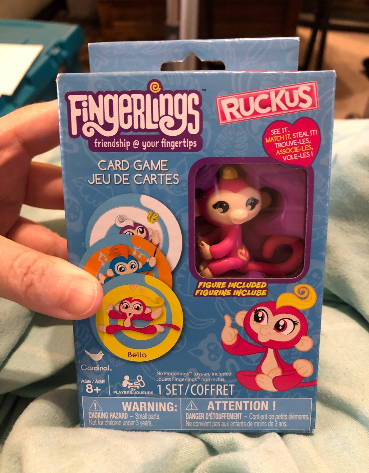 FINGERLINGS CARD GAME W TOY FIGURE.NEW!