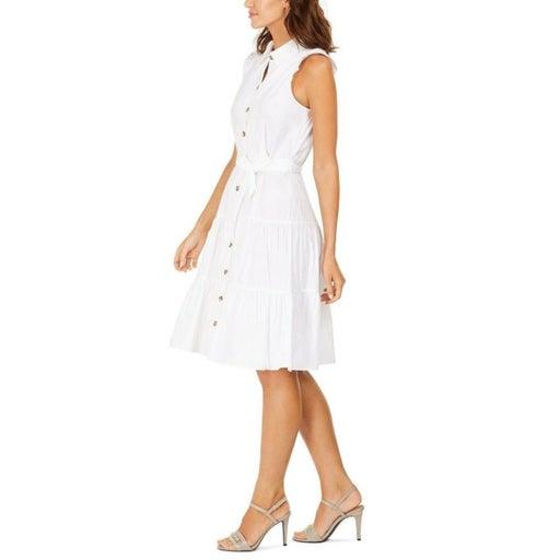 Calvin Klein Women's ,Size 8 Sleeveless Belted Cotton Shirtdress