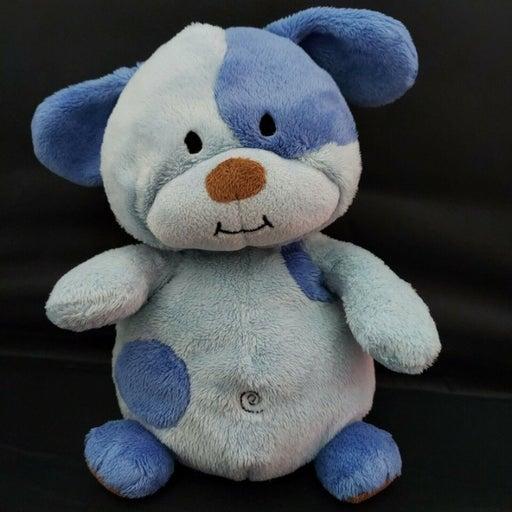 "Prestige Baby Blue Puppy Dog 9"" Plush Carters Stuffed Animal Swirl Soft Toy flaw"