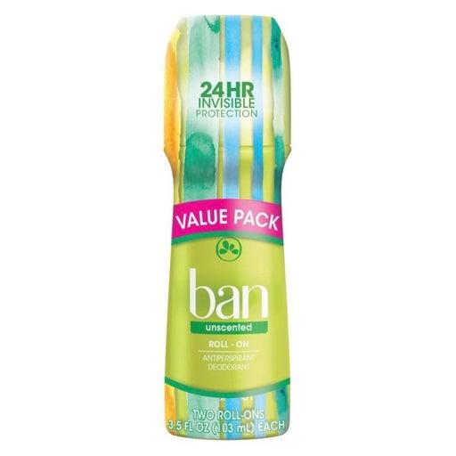 Ban Roll-on Deodorant & Antiperspirant, Twin Pack (HB5)